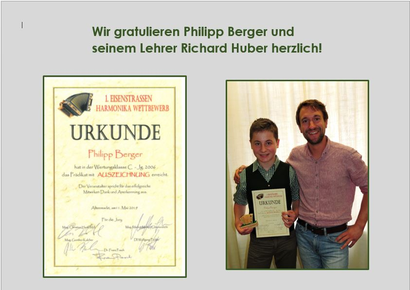 Philipp Berger und Richard Huber